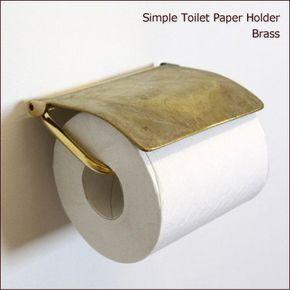 真鍮製トイレットペーパーホルダー(ブラスゴールド) - SELFISH +NET SHOP+ | おしゃれな照明・天然木の家具・かわいい雑貨 | セルフィッシュ