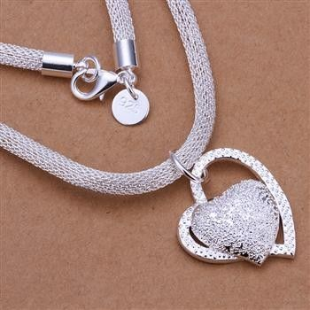 veľkoobchod 2014 New Fashion 925 Sterling Silver Chain Vykladané Kameň srdce Náhrdelníky Prívesky pre mužov Ženy šperkov SMTN270-in s príveskom Náhrdelník z šperky na Aliexpress.com | Alibaba Group