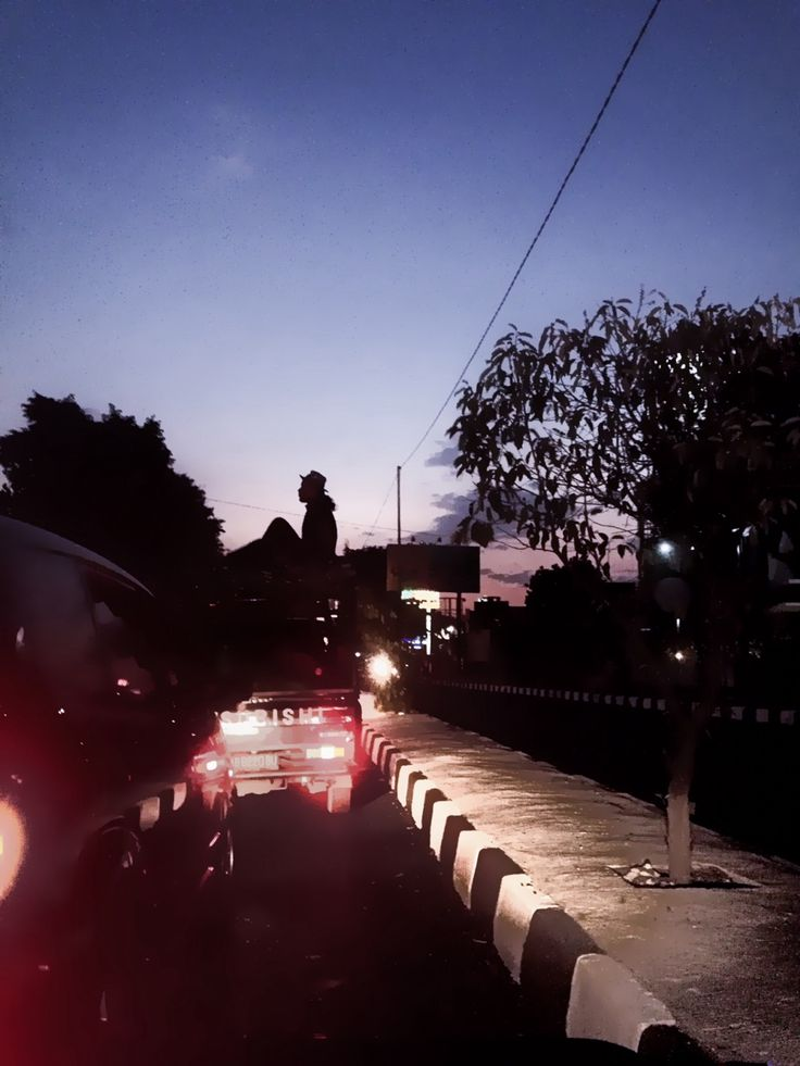 Be.. Just be.  //nature, sky, twilight, dusk, sunset, silhouette, mobile photography, shadow, traffic//