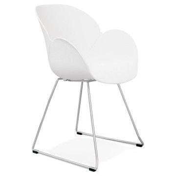 Chaise design et contemporaine TESTA (BLANC)