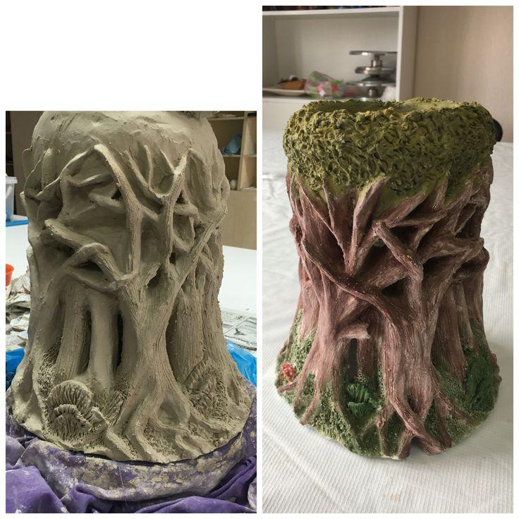 Seramik ağaç Lamb (lamba)