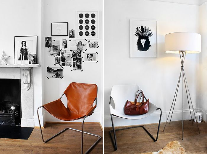 Lamp: Decor Studios, Brown Leather, Black And White, Black White, White Leather, Floors Lamps, Photo, Awesome Chairs, Leather Chairs