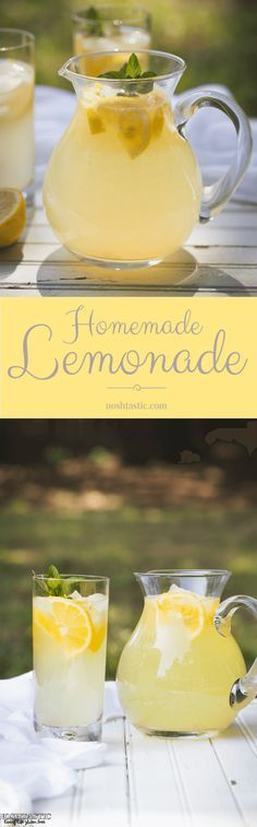 This fresh squeezed Lemonade recipe will blow your mind, you'll never go back to store bought! | from noshtastic.com |