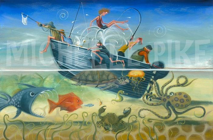 A Fishermans Tale - Michelle Pike Australian Artist