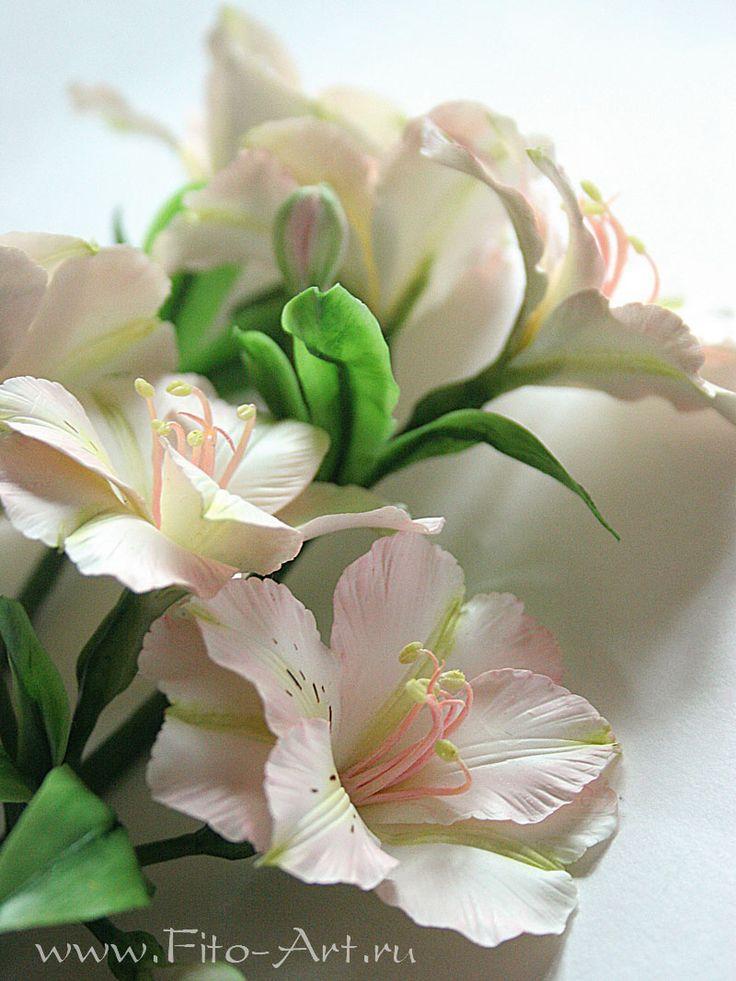 Цветы ручной работы - Веточки с цветами альстромерии.