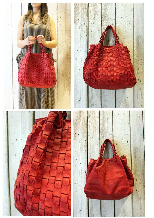 """Handmade woven leather bag """"INTRECCIATO 61"""" di LaSellerieLimited su Etsy"""