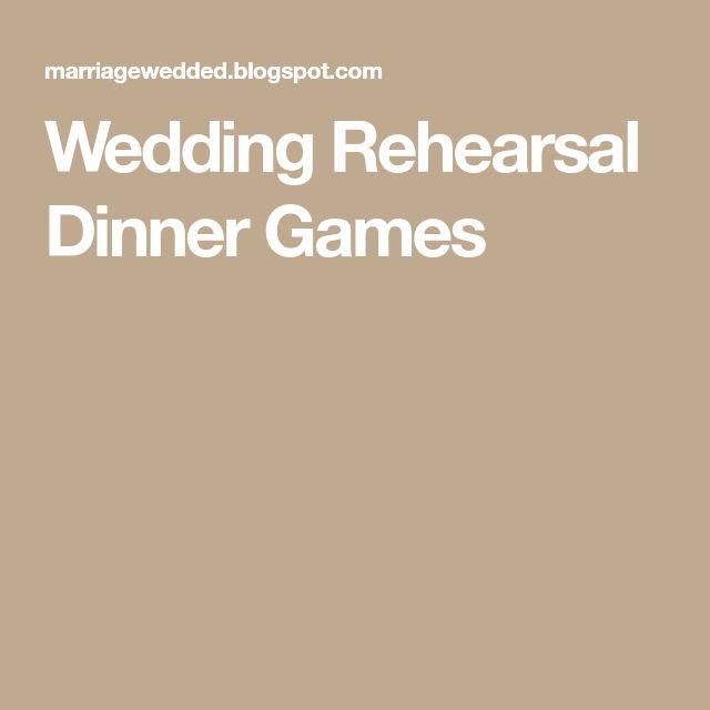 Stunning Wedding Rehearsal Dinner Games Ideas - Styles & Ideas 2018 ...
