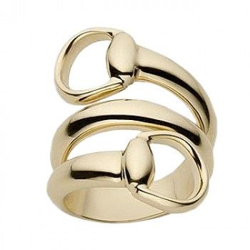 Fancy Gucci Horsebit K Yellow Gold Contraire Ring JRDunn Jewelry