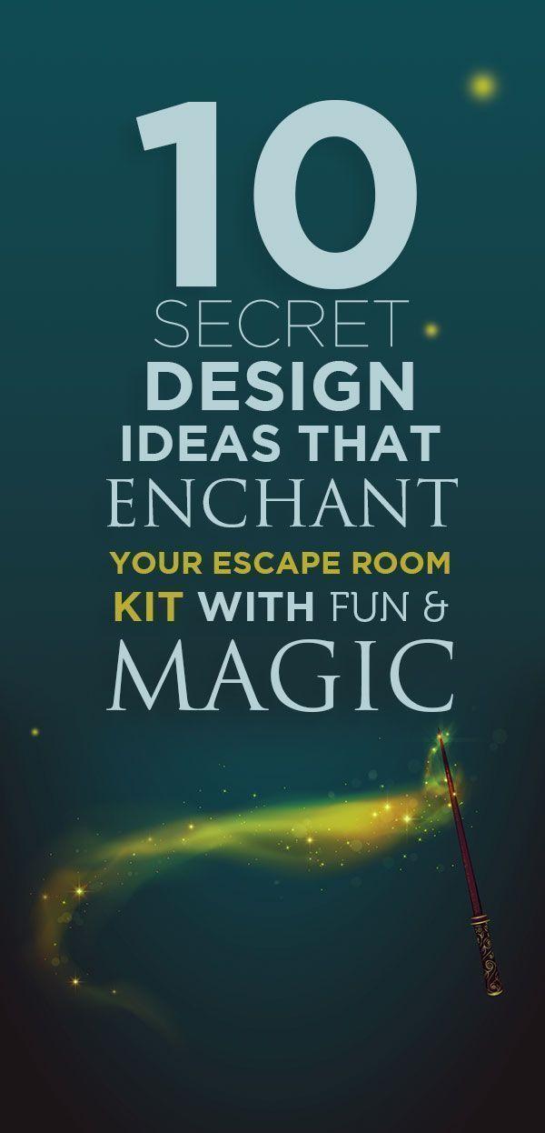 10 Secret Design Ideas To Enchant Your Escape Room With Fun Magic Escape Room Escape Room For Kids Escape Room Puzzles