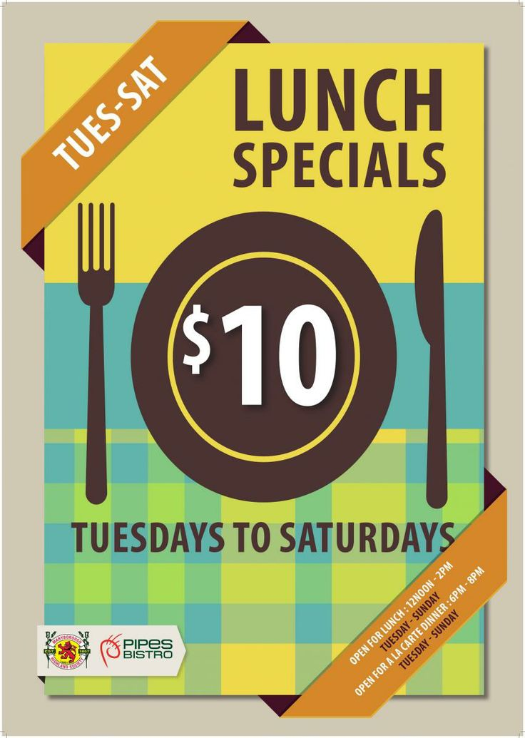 10 lunch special everyday advertising ideas pinterest for Lunch specials