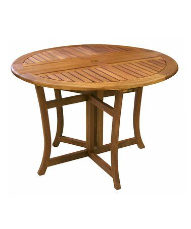 This Eucalyptus Round Folding Table is perfect! #zulilyfinds