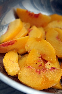 peaches for peach shortcake by David Lebovitz, via Flickr