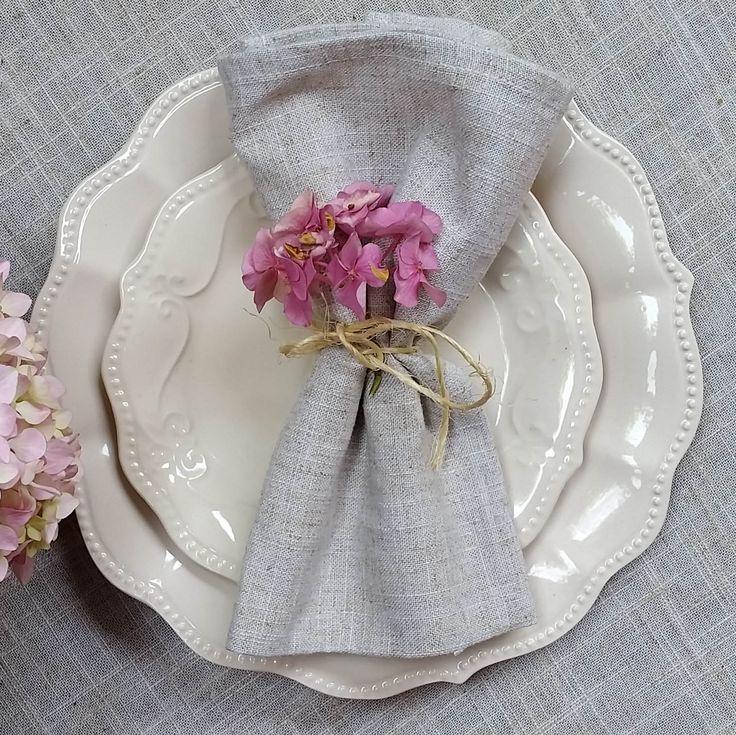 Viste tu mesa de verano con la colección CASSIS en blanco. Simplemente maravillosa!!