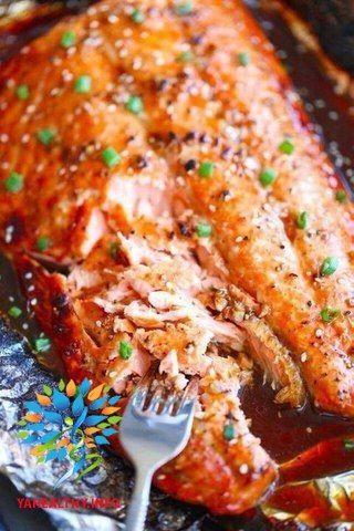 Рыба в фольге🍴 Лучший ужин👍🏻  Подходит на сушку/безуглеводную диету  Все рецепты здесь :👉 https://vk.com/intells_pro #рыба