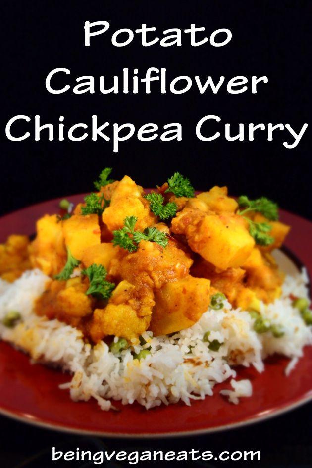 potato cauliflower chickpea curry   Healthy Noms   Pinterest