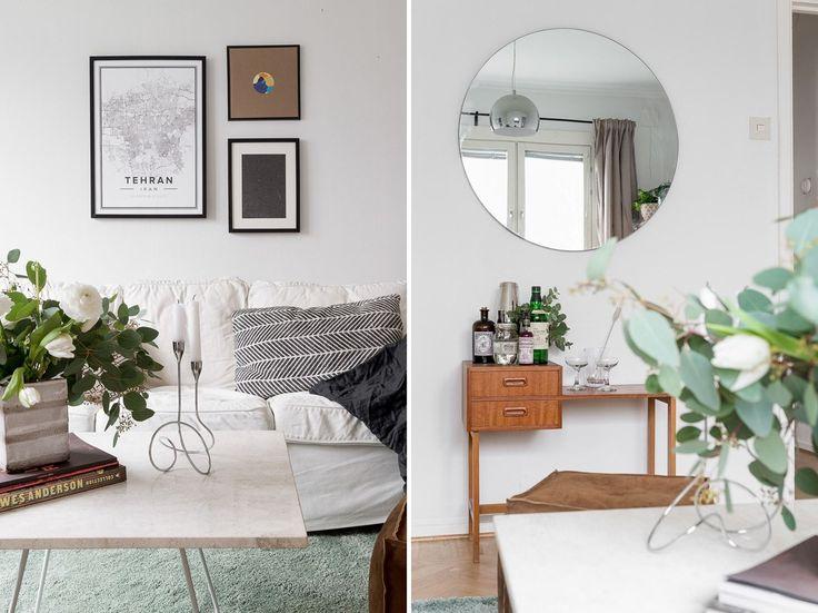 Ljusa ytskikt gör det lätt att sätta sin egen prägel med möbler och textilier