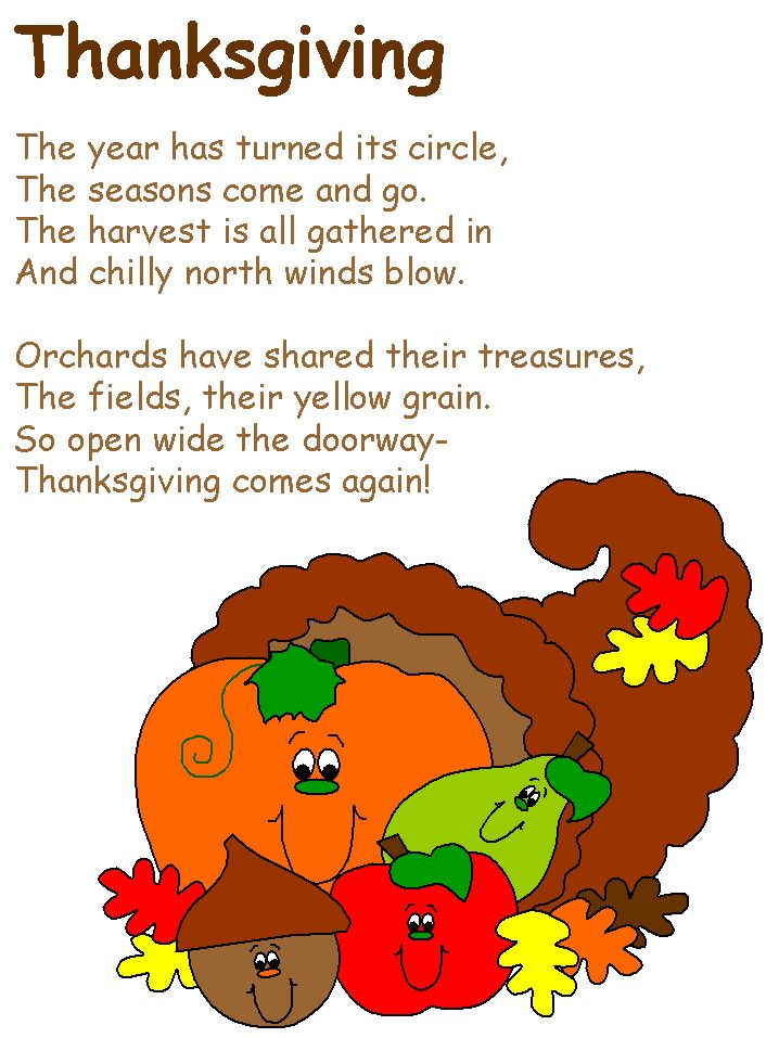 26 best Thanksgiving poetry for kids. images on Pinterest ...