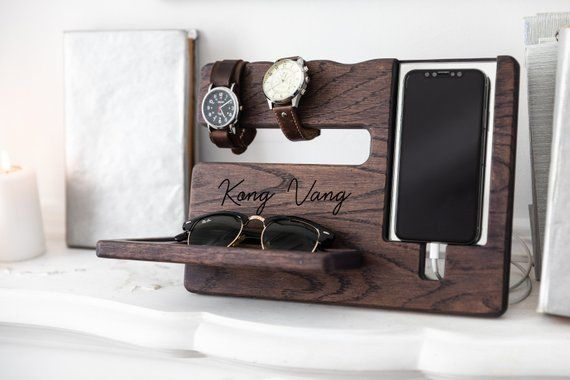 birthday gifts gifts for him,gift from wife,desk organizer wood,personalized gift,husband gift,mens gift,boyfriend gift,christmas gift him