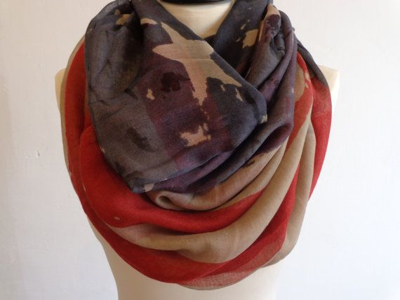 Infinity Scarf American Flag Scarf Infinity Infinity by chicdays