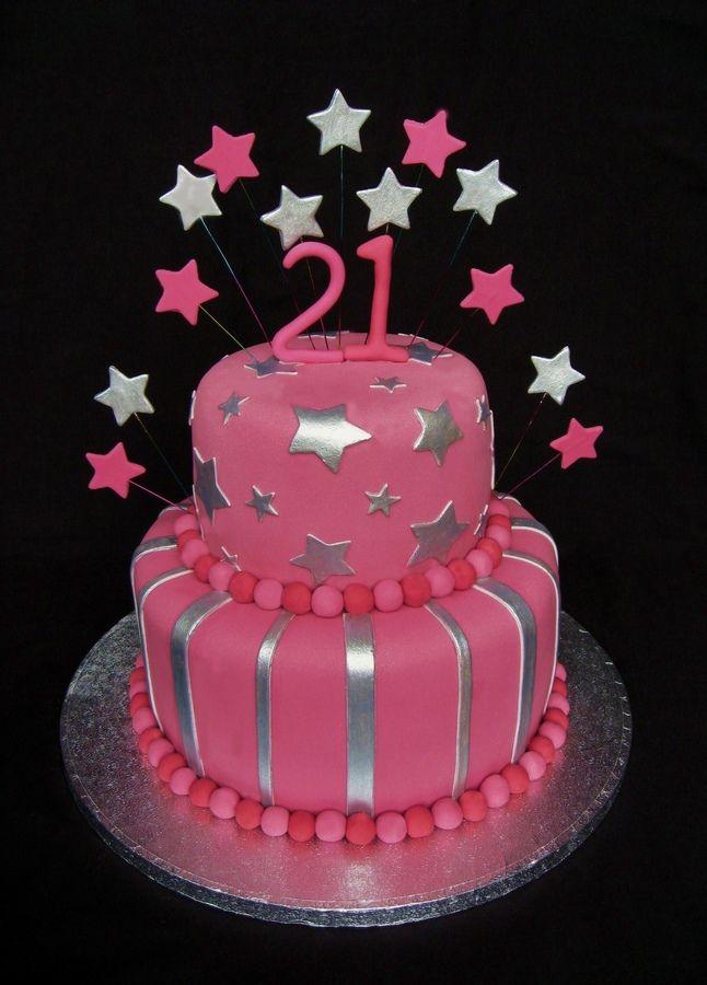 Birthday Cake Designs For 21st Birthday : Girls 21st Birthday Cake 21st cakes Pinterest Google ...