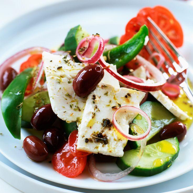 Voir la recette de la salade grecque à l'origan