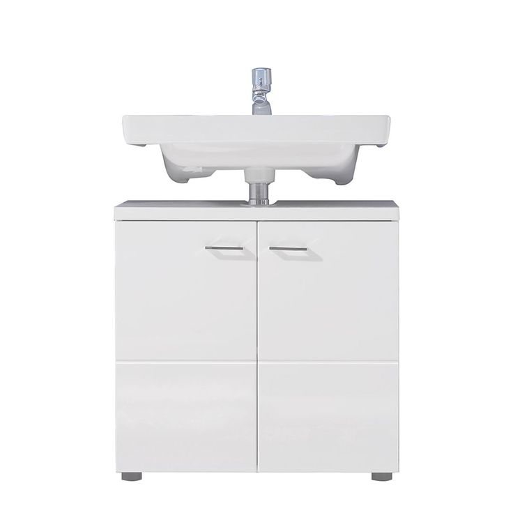 Die besten 25+ Waschbeckenunterschrank weiß hochglanz Ideen auf - badezimmer unterschrank weiss