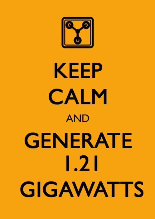 Gracias a Regreso al Futuro aprendí... lo que es un GIGAWATTS