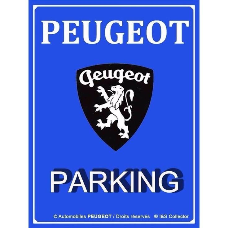 Tinnen nostalgisch muur/wand plaatje Peugeot. Formaat: 30x40 cm. Voor de echte Peugeot liefhebber. Peugeot parking/parkeren bordje.
