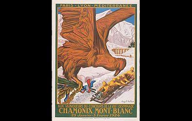 Olympiska vinterspel 1924   Poster från vinter-OS i Chamonix 1924. ( Foto: Wikimedia Commons . )