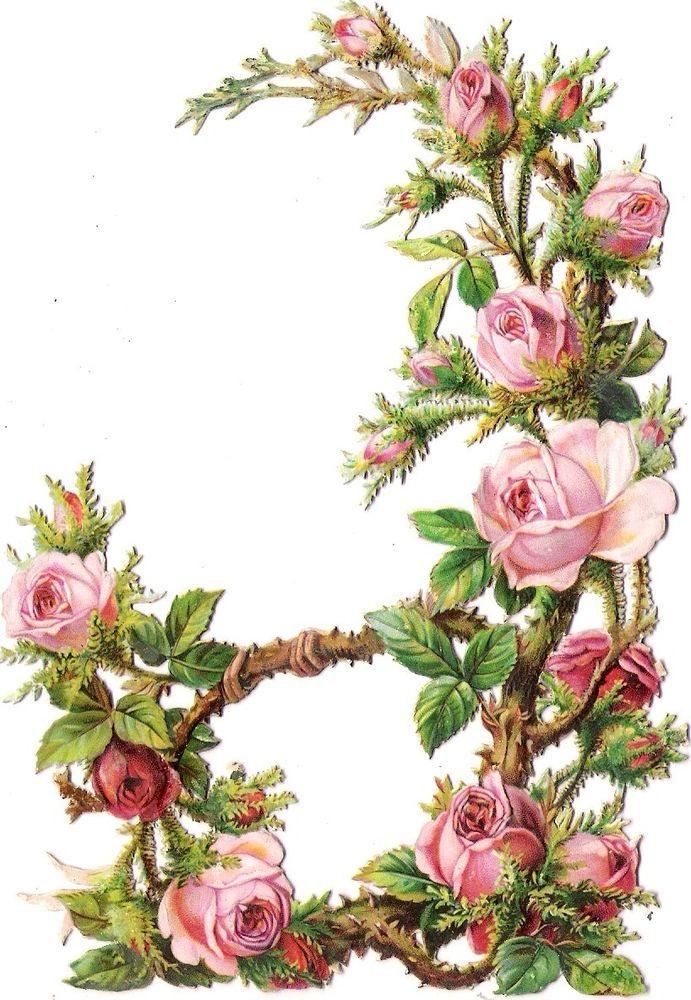 Oblaten Glanzbild scrap die cut chromo Rosen Bogen  15cm rose wreath arc archway
