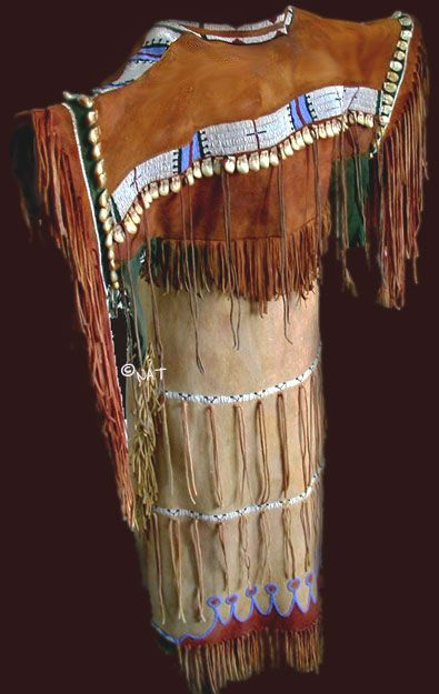Plains Indian Beaded and Buckskin Native American Dresses