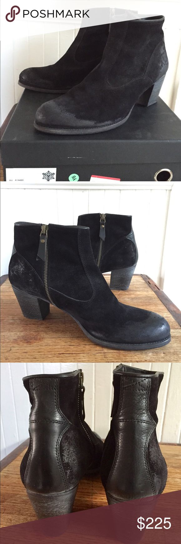 NDC Made by Hand EM Softy Boots Sz 41 New W/ Box Gorgeous black suede and leather NDC Made by Hand EM ankle boots they're basically brand-new I still have the box I only wore them a couple of times they're absolutely amazing retail for over $600!! NDC Made by Hand Shoes Ankle Boots & Booties