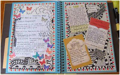 como decorar un cuaderno por dentro