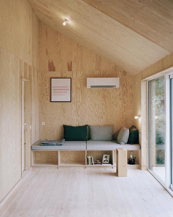 plywood waiting room