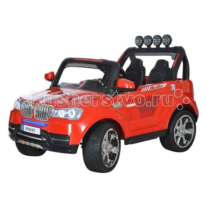 Электромобиль Shine Ring 12V/Ahх2  Shine Ring Электромобиль 12V/Ahх2 SR8089-B  Большие надувные колеса этого электромобиля с внушительным дизайном легко справляются с бездорожьем и грунтом. Батарея 12V/10Ah обеспечит продолжительную прогулку, а скрасят её звуковые и световые эффекты. Электромобиль оснащён специальным разъёмом для подключения mp3-плеера,  может двигаться вперед и назад. Имеет две скорости вперед (для обеспечения максимальной плавности при трогании с места). Большей…