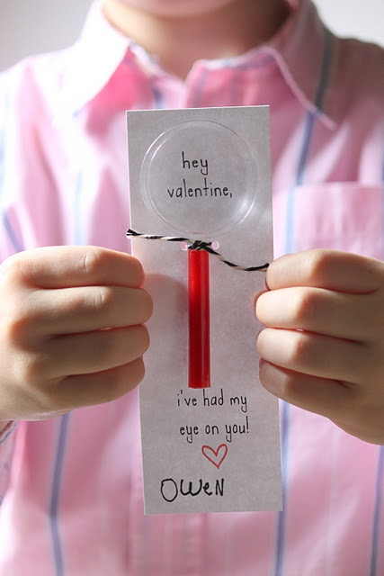 Valentine - Magnifying Glass - I've got my Eye on you! Cute! Kids love these!