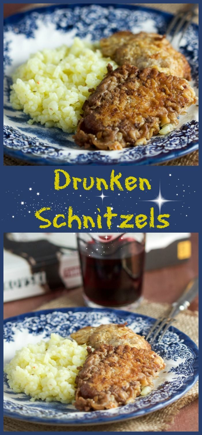 Let me break down these red wine veal schnitzels. Today we're making veal (which is nothing but a younger version of beef) schnitzels (basically just means breaded cutlets), baked in red wine (I don't need to explain red wine to you).