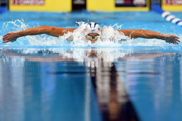 Michael Phelps Photos Photos - Michael Phelps competes in a semi-final heat of the Men's 200 Meter Butterfly during Day 3 of the 2016 U.S. Olympic Team Swimming Trials at CenturyLink Center on June 28, 2016 in Omaha, Nebraska. - 2016 U.S. Olympic Team Swimming Trials - Day 3
