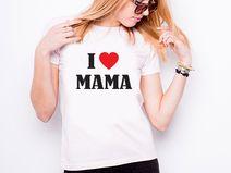 """Koszulka damska """"I LOVE MAMA"""""""