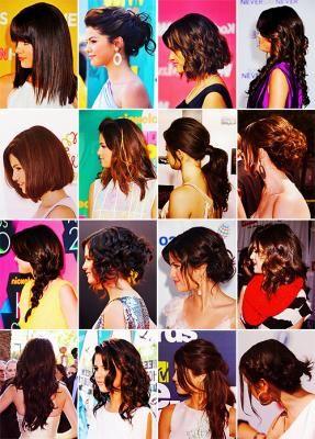 Selenanın saç stilleri :)