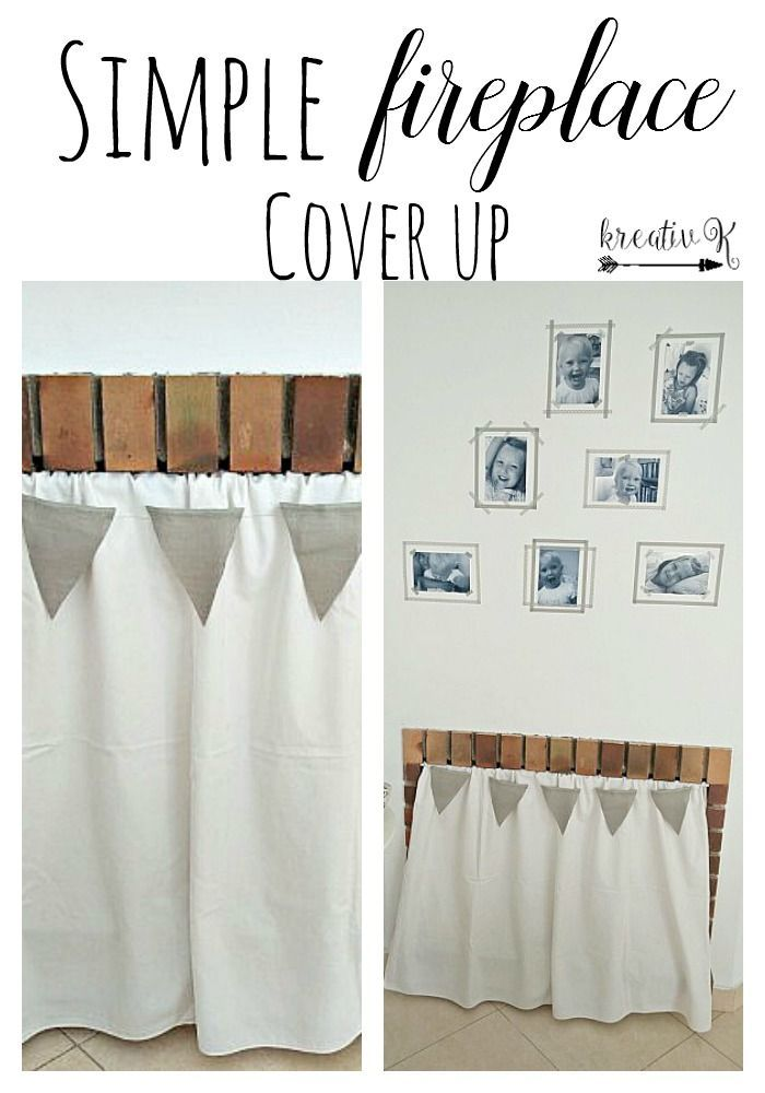Simple Fireplace cover up kreativk
