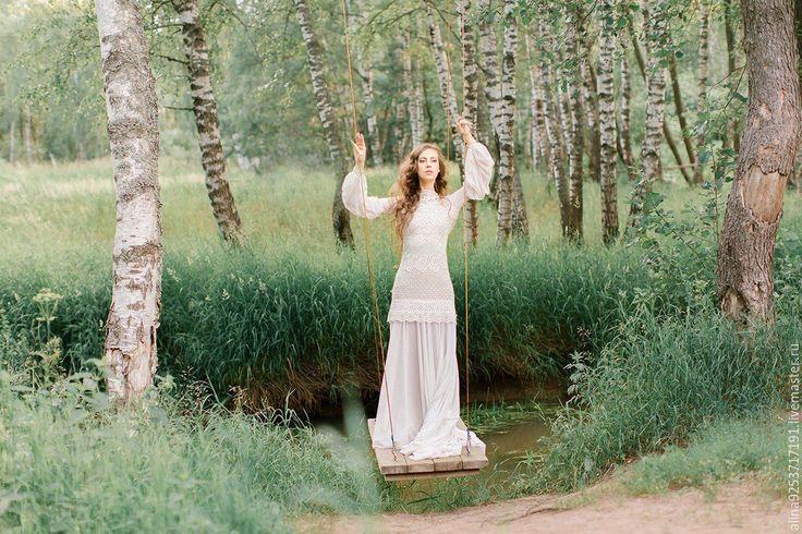 Купить Свадебное платье с открытой спиной - бежевый, свадебное платье, свадебное платье на заказ