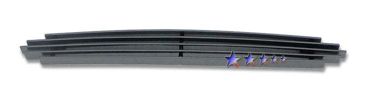 Ford Mustang  1999-2004 Black Powder Coated Scoop Black Aluminum Billet Grille