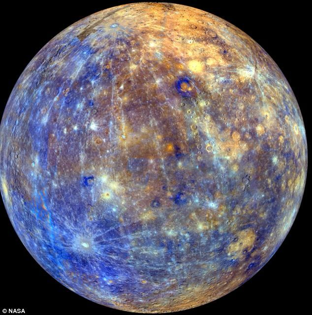 Mercury: The images were created using a mosaic of pictures from Nasa's messenger spacecraft, which were then combined to create a video 'flyby' of the planet. 2013