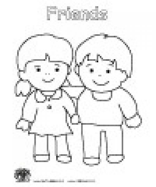 preschool coloring pages friends - photo#1