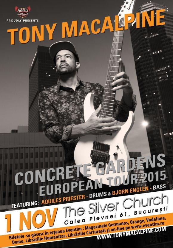 Concert Tony Macalpine in The Silver Church, Bucuresti