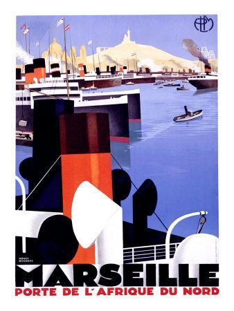 Marseille, Porte de lAfrique by Roger Broders