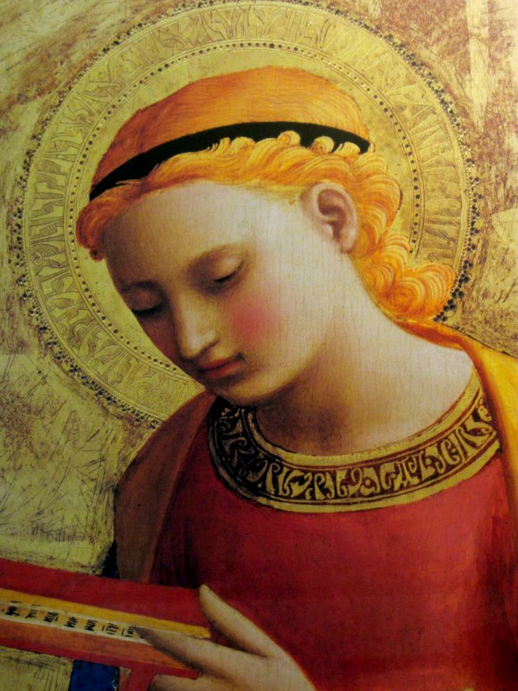 Fra Angelico (ca.1395-1455) ~ Angel (detail)