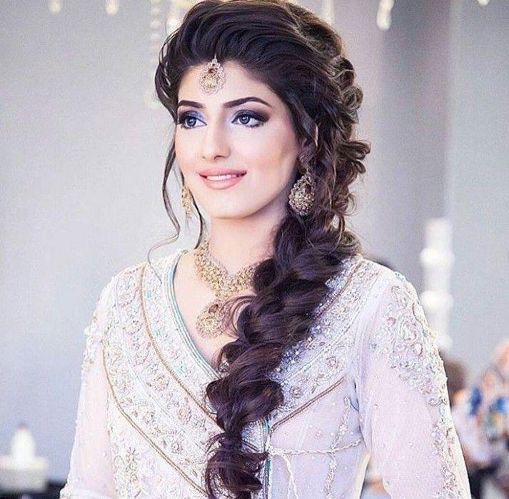 Long Hairstyle In Saree Gaya Rambut Rambut Model
