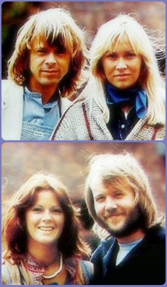 ABBA posing for photographer Bubi Heilemann(Bravo) in 1976.